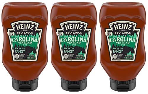 Heinz BBQ Sauce - Carolina Vinegar Style - Sweet & Tangy - Net Wt. 18.6 OZ (527 g) Per Bottle - Pack of 3 Bottles