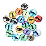 Jiamins - 20 ojos de seguridad de cristal de colores para teddy, oso, muñeca, Fantoche y artesanía, 20 mm