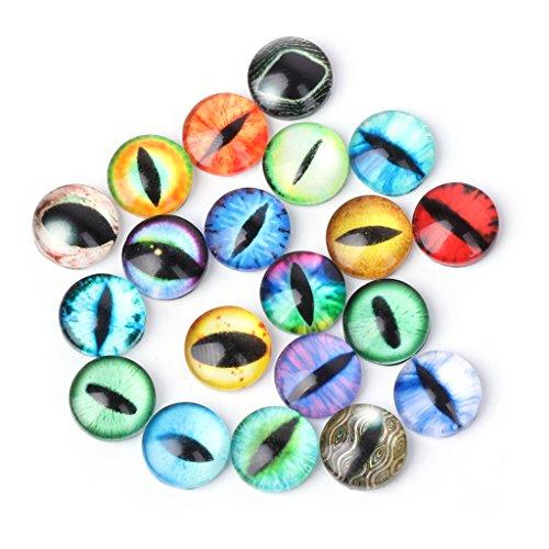 MIsha 20 Piezas Ojos de cristal de colores, Ojos de seguridad para...