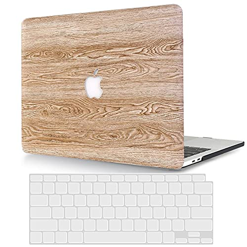 ACJYX Compatible con MacBook Pro de 15 pulgadas 2015 2014 2013 2012 modelo A1398, funda protectora de cuero y cubierta de teclado para versión antigua Mac Pro Retina 15 – madera de poliuretano
