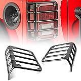 Bosmutus J-e-ep Wrangler Tail Light Guard   Stainless Steel Powder Coated Brake Light Assembly Cover   2007 – 2018 JK Unlimited [1 Pair]