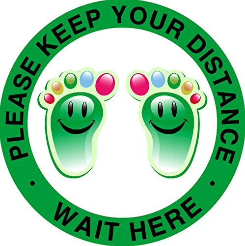 Kids Social Distancing Floor Decals Sign - Marker Safety Long Beach High quality Mall
