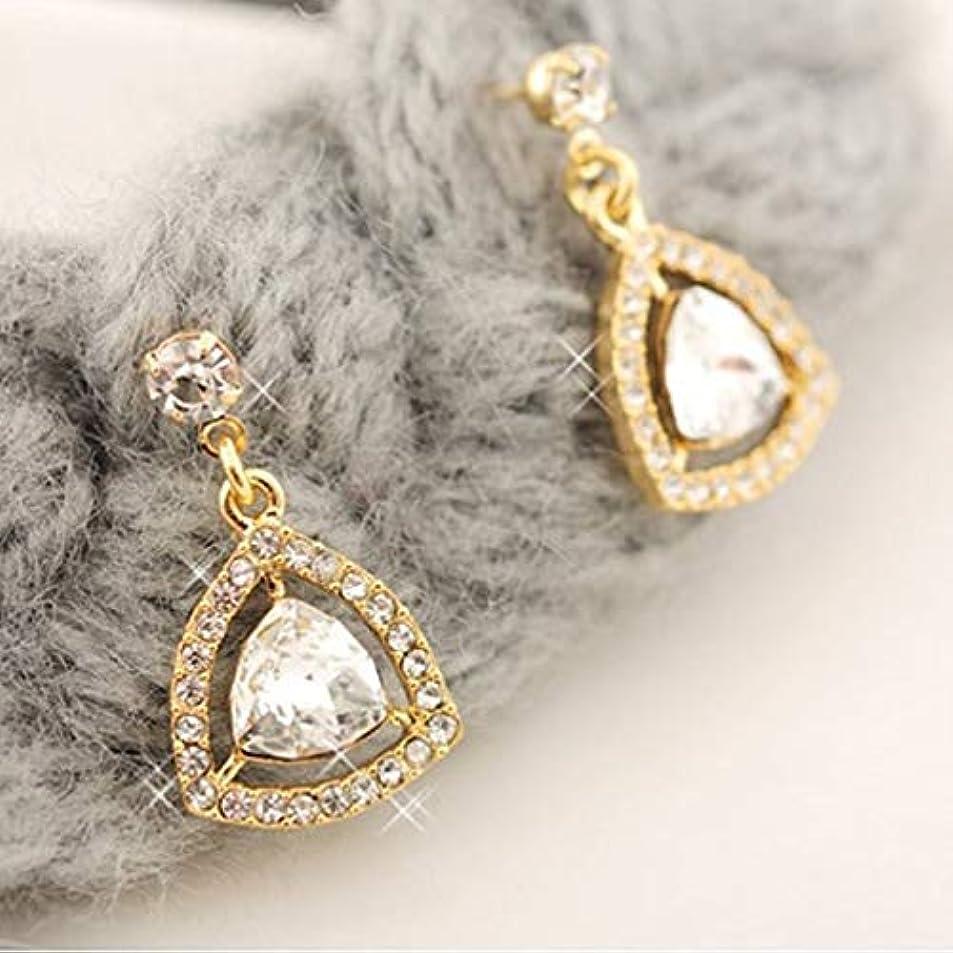 Crystal Triangle Curl Fashion Vogue Stud Earrings Ear Hoop Jewelry Ear Decoration for Women Party Casual Ear Accessories iwzmetwc3903