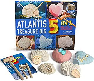 Atlantis National Geographic Archaeology Kit, Gemstone Digging Kits Toys for Boys and Girls, Lost City Great Science Excav...