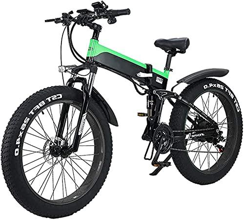 Bicicleta electrica Bicicleta de la ciudad de la montaña eléctrica plegable, la pantalla LED de la bicicleta eléctrica de la bicicleta de la bicicleta de la bicicleta 500W 48V 10AH, la carga máxima de