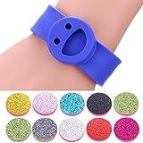 Pulsera de Aceite Esencial Colorido Smile aromaterapia pulsera pulseras palmada del silicón de la cara Aceites Esenciales Difusor pulsera linda pulsera de Niño pulsera regalo interesante con atenuador