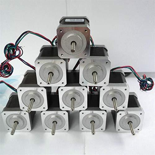 ZLININ 5 stks 4-lood Nema17 Stappenmotor 42 Motor Nema 17 Motor 42BYGH 40MM 1.7A (17HS4401) Motor voor CNC XYZ