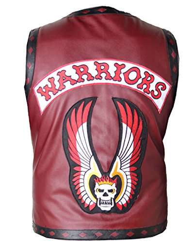 Shop House The Warriors Gilet in Ecopelle per Uomo (XXS-5XL) The Warriors Gilet, Gilet Uomo, Gilet da Motociclista (3XL (Segui la Tabella delle Taglie))