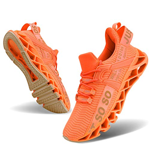 UMmaid Damen Laufschuhe Leicht Turnschuhe Atmungsaktiv Knit Sneaker Fitness Sportschuhe