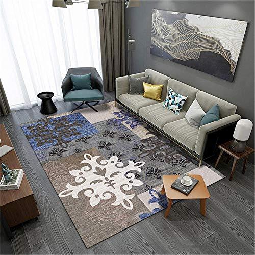 alfombra antideslizante ba?era Alfombra azul, marrón, gris con diseño floral, mecanismo cómodo,...