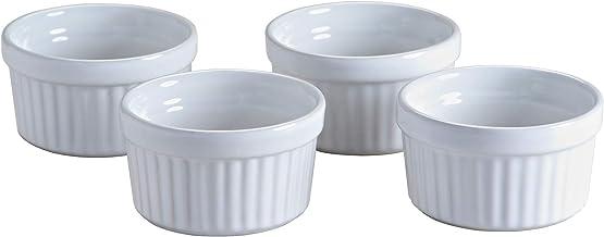 Mason Cash Classic Collection Stoneware Ramekins Set, 4 Piece, White 28425
