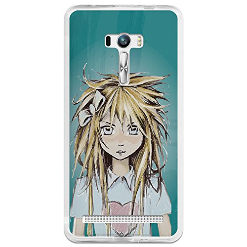 Custodia Cover Silicone Flessibile in Gel TPU Asus Zenfone Selfie ZD551KL BeCool Sh?jo with Heart T-Shirt