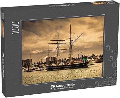 Puzzle 1000 Teile Altes Segelschiff im Hafen - Klassische Puzzle, 1000/200/2000 Teile, in edler Motiv-Schachtel, Fotopuzzle-Kollektion 'Verkehr'