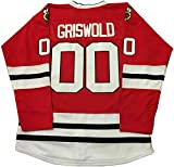 oldtimetown Clark Griswold #00 Movie Hockey Jerseys Stitched Letters and Numbers S-XXXL