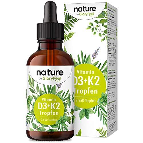 Vitamin D3 + K2 Tropfen 75ml - Premium 99,7+% All-Trans (K2VITAL® von Kappa) + hoch bioverfügbares Vitamin D3 - Laborgeprüft, hochdosiert, flüssig ohne Zusätze in Deutschland hergestellt