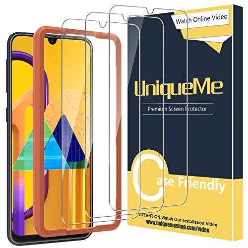 UniqueMe [3 Stück] Schutzfolie für Samsung Galaxy M30s / Samsung Galaxy A50s Panzerglas, HD klar gehärtetes Glas Displayschutz [9H Härte Folie] [Anti-Fingerabdruck] Displayschutzfolie