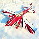 HELEISH Bord amélioré 540T PP 15E de Envergure 3D Kit Avion RC Voltige Pièces d'assemblage de bricolage (Color : Dark Blue)