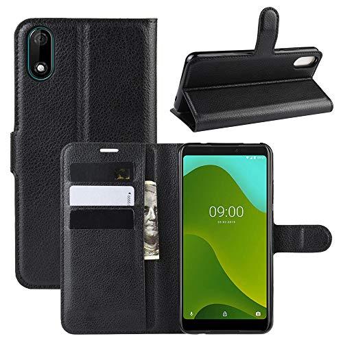 LZS Hülle für Wiko Y70 Leder Flip-Cover Handyhülle Brieftasche mit Kartensteckplatz & Stand Magnetverschlus Kompletter Schutz Wiko Y70 Handy Hülle