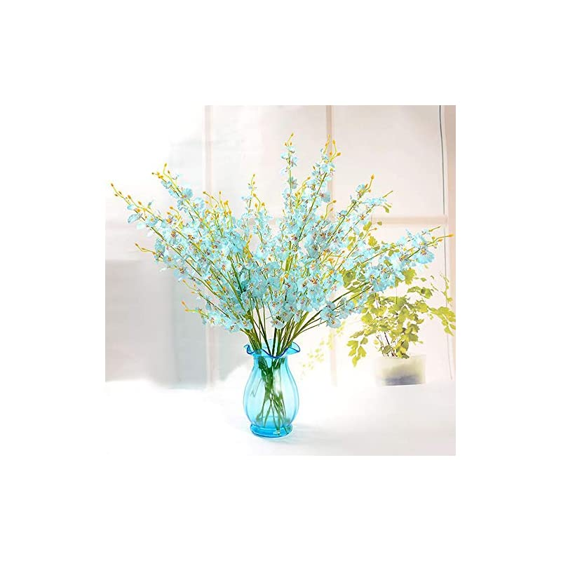 silk flower arrangements nadalan 6pcs artificial flower arrangements yellow plastic fake flowers bulk winter jasmine for home party wedding office decoration without vase
