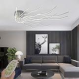 Moderna lámpara LED de techo de 140W regulable lámpara de salón con mando a distancia lámpara de techo para dormitorio creatividad 10 líneas de diseño lámpara de techo plana para oficina pasillo