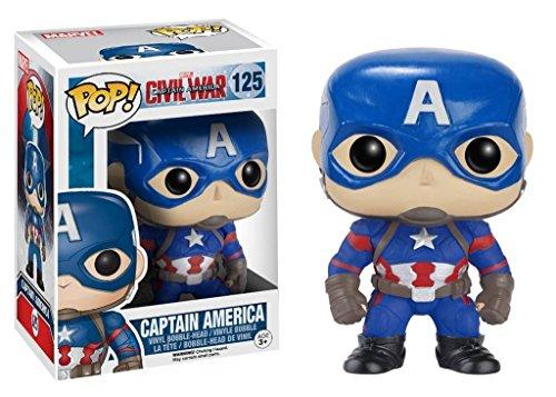 Funko Pop Capitán América (Capitán América: Civil War 125) Funko Pop Capitán américa
