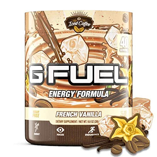 G Fuel French Vanilla Iced Coffee (40 Servings) Elite Energy and Endurance Formula 9.8 oz.