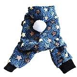 Feinny Chemise vêtements à Capuchon Peluche pour Chiot Chiens et Chats Capuche Manteau Chaud Manteaux Habits VêTements d'hiver...