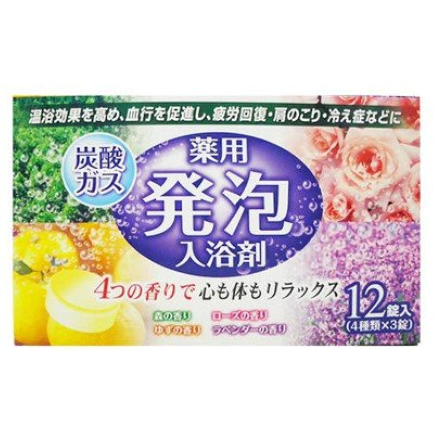バリー充実さようなら薬用発泡入浴剤炭酸ガス12錠入り4つの香りで心も体もリラックス(4種類×3錠) (リベロ)
