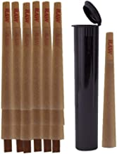 RAW Cones Pack 200 Classic King Size Pre Rolls with Tips Plus 5 Black Waterproof Airtight Smell Proof Tubes | Rolling Pape...