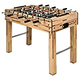 Goplus 48' Foosball Table, Easy-Assemble Soccer Game Table w/ 2 Balls, Competition Sized Foosball...