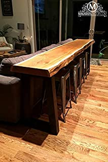 Wood Slab, Behind the Sofa Table, Natural Edge Buffet Table, Bar Top, Counter Top, Long Shelf, rustic table, rustic counter, rustic bar, live edge sofa table,