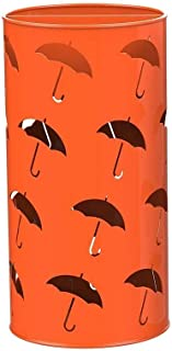 Yxsd Umbrella Stands Round Holder W/Drain Tray, Umbrella Bucket for Entryway Canes Walking Sticks (Color : Orange)
