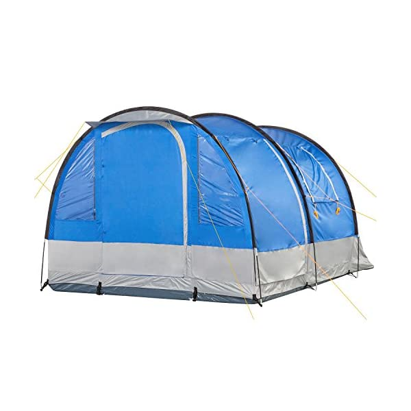 CampFeuer - Tunnel Tent, 4 Person, 410x250x190 cm, blue/grey