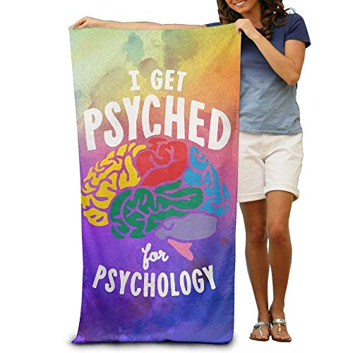 Mengghy Wxf I Get Psyched for Psychology - Toalla de playa suave y ligera (30 x 50 cm)