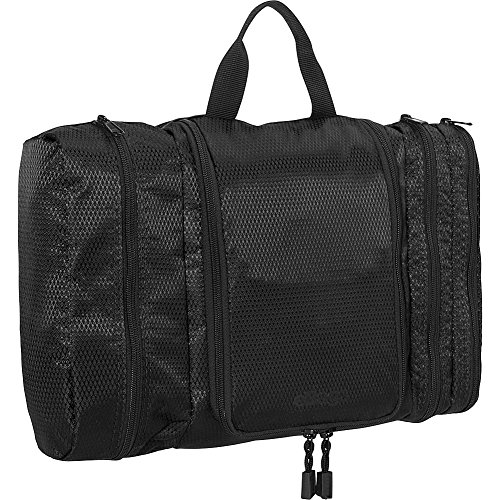 eBags Pack-it-Flat Large Hanging Toiletry Bag and Kit - (Black)