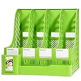 TXXM Soporte de Archivo de Suministros de Oficina Soporte de Libro Carpeta de Escritorio Simple Almacenamiento de la Caja de Almacenamiento de la Carpeta (Color : Green)