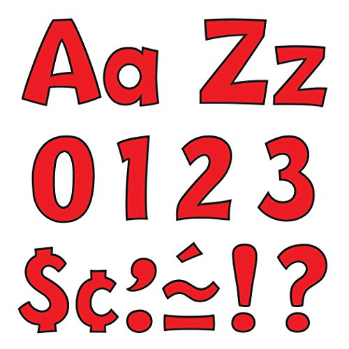 """Trend T79742 Ready Letters Playful Combo Set, Red, 4""""h"""