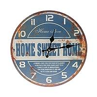 F Fityle 30センチ 大型 ヴィンテージ 壁時計 アンティーク シック 台所装飾 - #5