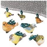 URBNLIVING Set mit 4 bunten Vögeln Form Clip On Dekoration Dinner-Party Picknick Garten Tisch...