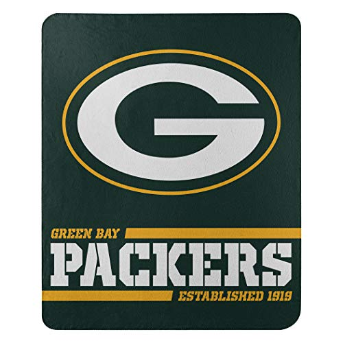 The Northwest Company Green Bay Packers Split Wide Throw Fleece Standard