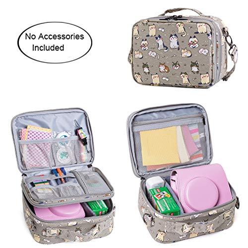 Teamoy Reisetasche Kompaktkamera Taschen für fujifilm instax Mini 9 und Mini 8, Sofortbildkamera Tasche für die Mitnahme von fujifilm instax Mini 9 und Kamera Zubehör, Katze