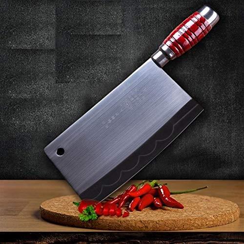 Macheta Cocina profesional forjado hecho a mano chino Cleaver al carbono de alta Chef de acero inoxidable cuchillas troceadoras Herramientas cocción de las verduras Cocina