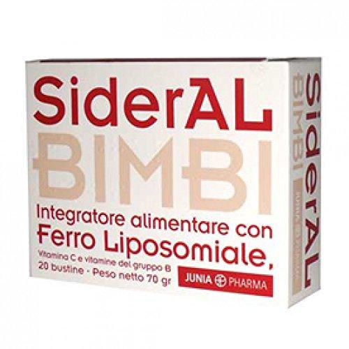 Sideral Bimbi 20 bustine integratore di Ferro, vitamina C e vitamine del gruppo B