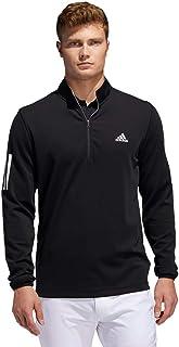 Adidas Golf Men's 3-Stripes Midweight Layering Stretch Soft Zip Neck Sweater
