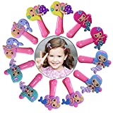 12 Pack Mermaid Pattern Girl Hair Clip, RELIGES Kids Hair Clip Accessories for Thick Hair, Alligator Clip for Teens Kids Babies (Mermaid)