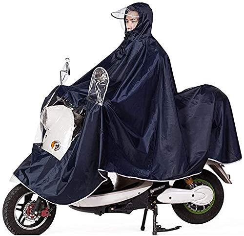 Cape de Pluie Manteaux Poncho Imperméable à Grande Capuche Moto/Vélo Poncho/Veste de Pluie Raincoat Cape Bonne Qualité Rainwear Outdoor Waterproof Unisexe pour Homme Femme