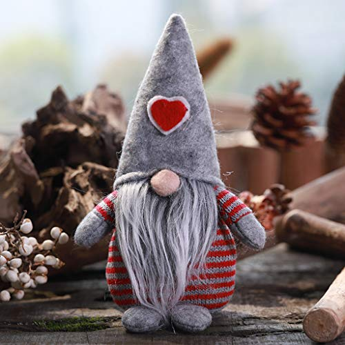 Shan-S Christmas Faceless Doll Decoration,Soft Stuffed Plush Gnomes Toys for Boys and Girls,Handmade Xmas Figurines Holiday Decoration Gifts Standing Posture Faceless Doll Window Decor