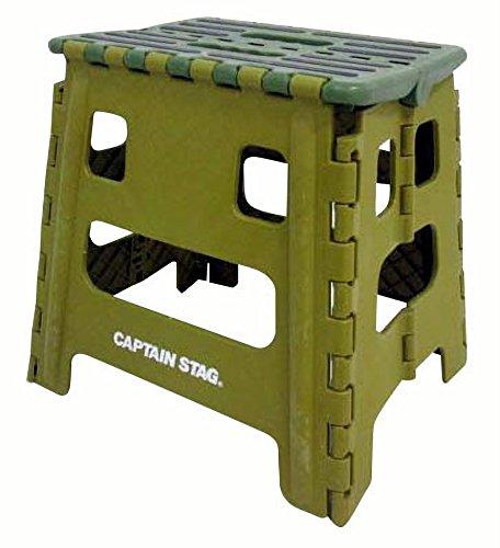 キャプテンスタッグ(CAPTAIN STAG) 踏み台 ステップ 椅子 折りたたみ ステップ Mサイズ グリーン UW-1509