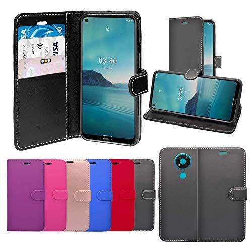 Unbranded Case Hülle Für Nokia 3.4 Klappetui PU Leder Ständer Kartenschlitz Tasche Kompatibel Mit Abdeckung - Roségold