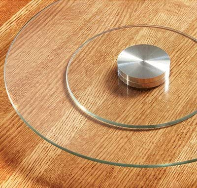 Artis Large Glass Rotating Lazy Susan Turntable Serving Plate